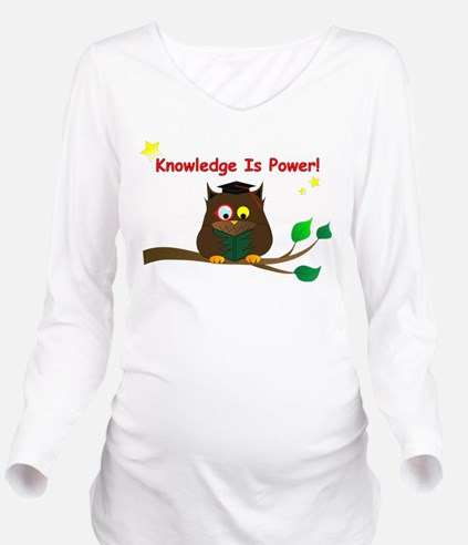 Wise Owl Long Sleeve Maternity T-Shirt