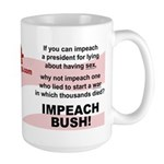 Impeach Bush Large Mug