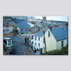 View over St Ives Cornwall Sticker (Rectangle)