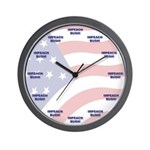 Impeach Bush Wall Clock