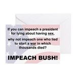 Impeach Bush Greeting Cards (6)