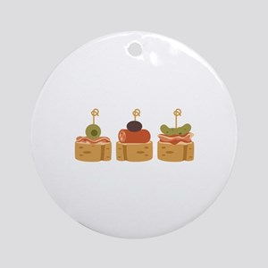 Spanish Tapas Appetizers Food Ornament (Round)