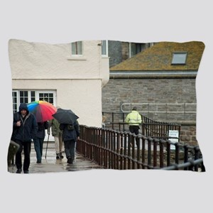 Rainy English seaside weather Pillow Case