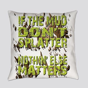 Mud Splatter Boggin Design Everyday Pillow