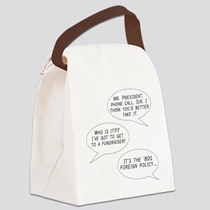 '80s Foreign Policy Canvas Lunch Bag