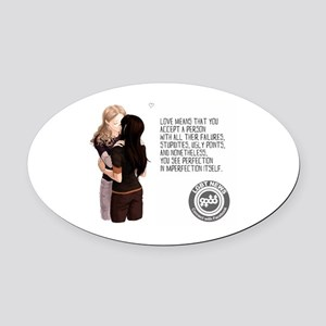 Love Means... Oval Car Magnet