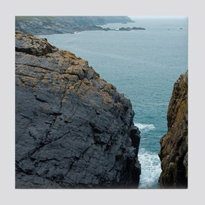 The mining coastline of Cornwall Tile Coaster