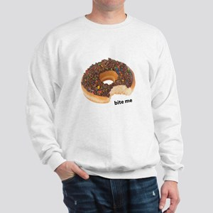 bite me donut. chocolate donuts Sweatshirt