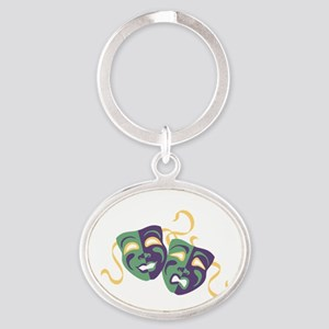 Happy Sad Drama Acting Theatre Masks Keychains