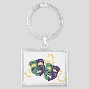 Happy Sad Drama Acting Theatre Masks Keychains