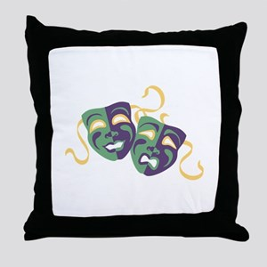 Happy Sad Drama Acting Theatre Masks Throw Pillow