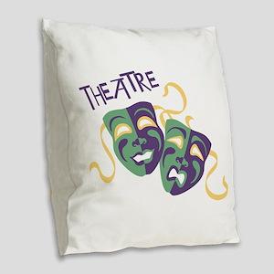 THEATRE Burlap Throw Pillow