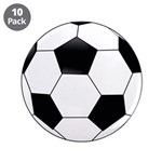 "Soccer 3.5"" Button (10 Pack)"