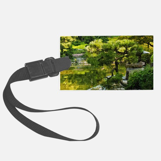 Japanese garden, early autumn Luggage Tag
