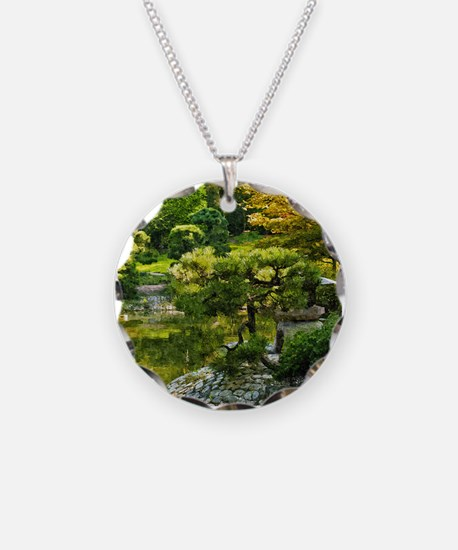 Japanese garden, early autumn Necklace
