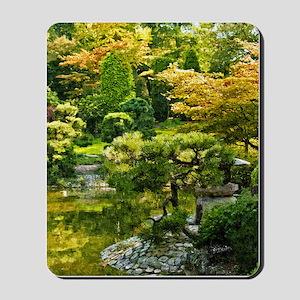Japanese garden, early autumn Mousepad