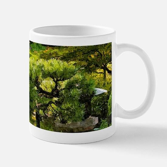 Japanese garden, early autumn Mugs