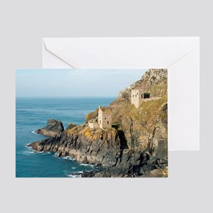 Ruins at Crown Mines, St Just Greeting Card