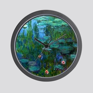monet nymphea lily pond giverny Wall Clock