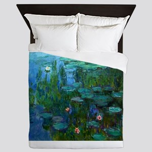 monet nymphea lily pond giverny Queen Duvet