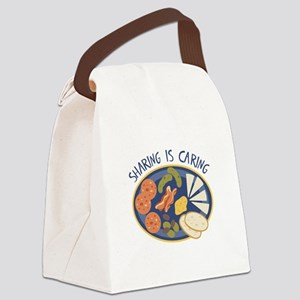 Sharing is Caring Canvas Lunch Bag