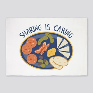 Sharing is Caring 5'x7'Area Rug