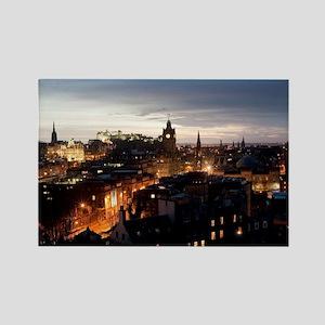 Edinburgh illuminated at night Rectangle Magnet