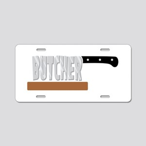 Butcher Aluminum License Plate