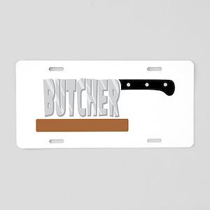 Butcher Aluminum License Plate
