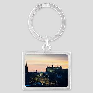 View of Edinburgh Castle at nig Landscape Keychain