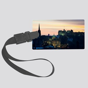 View of Edinburgh Castle at nigh Large Luggage Tag