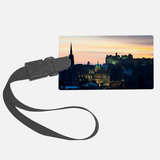 View of Edinburgh Castle at nigh Luggage Tag