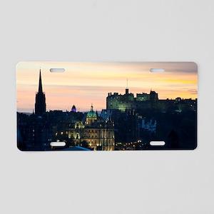 View of Edinburgh Castle at Aluminum License Plate