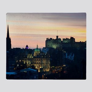 View of Edinburgh Castle at night Throw Blanket