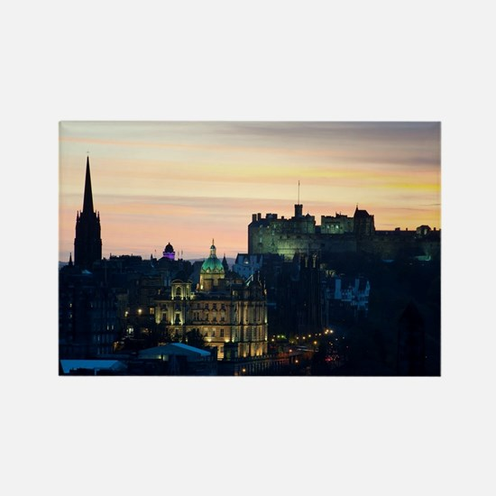 View of Edinburgh Castle at night Rectangle Magnet