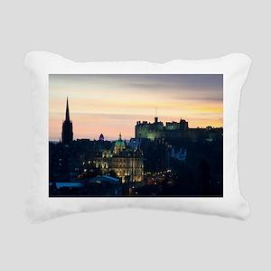 View of Edinburgh Castle Rectangular Canvas Pillow