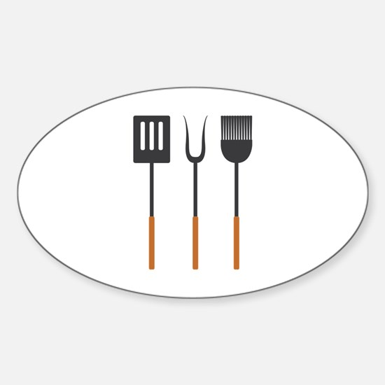 Grill Cooking Tools Decal