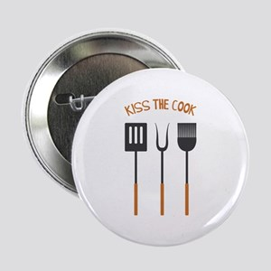 "KISS THE COOK 2.25"" Button"