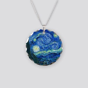van gogh starry night Necklace