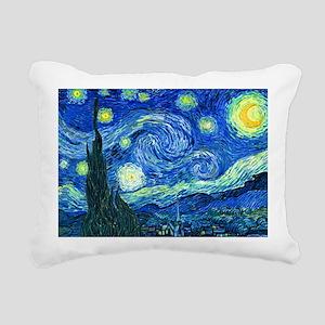 van gogh starry night Rectangular Canvas Pillow