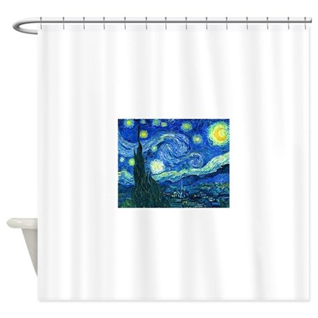 Van Gogh Starry Night Shower Curtain By PixDezines