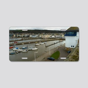 View of Whitehaven harbour Aluminum License Plate