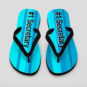 Blue Secretary Flip Flops
