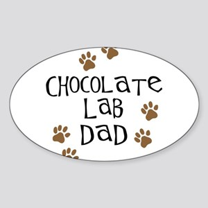 Chocolate Lab Dad Sticker (Oval)
