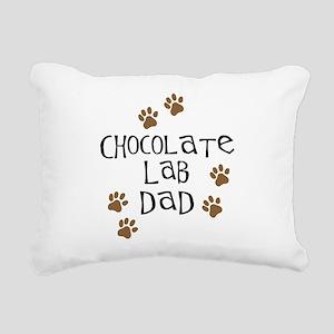 Chocolate Lab Dad Rectangular Canvas Pillow
