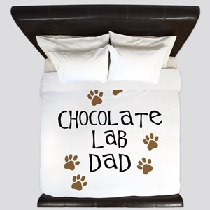 Chocolate Lab Dad King Duvet
