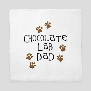 Chocolate Lab Dad Queen Duvet