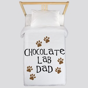 Chocolate Lab Dad Twin Duvet