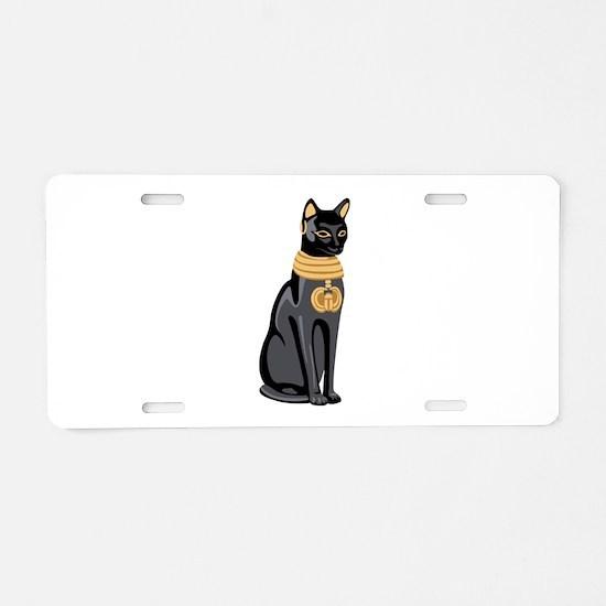 Egyptian Cat God Bastet Aluminum License Plate