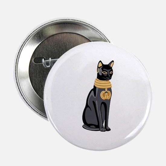 "Egyptian Cat God Bastet 2.25"" Button"
